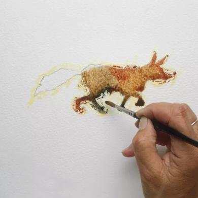 Descubre nuevas formas de utilizar tus acuarelas pintar con cafe